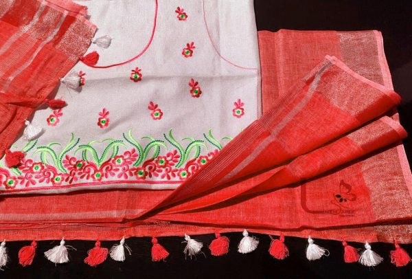 LINEN BY LINEN SAREE